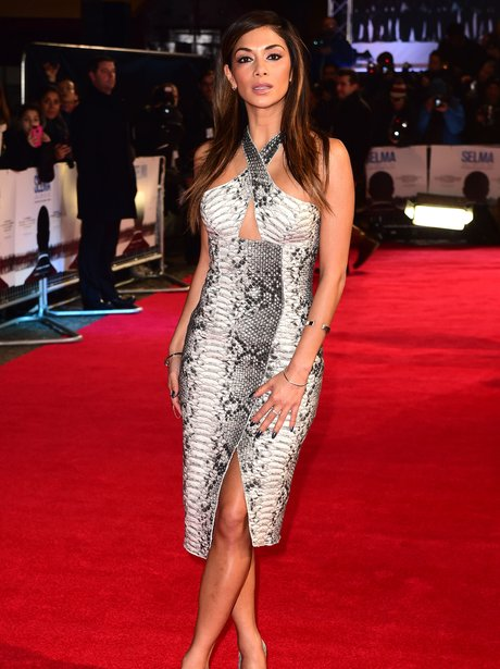 Nicole Scherzinger Snakeskin Dress