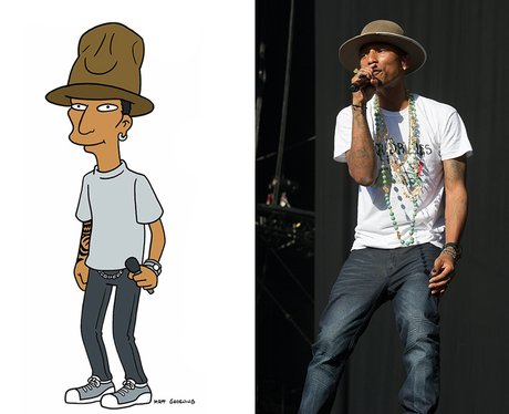Pharrell in the Simpsons