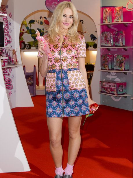 Pixie Lott Flowery Outfit