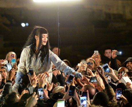Rihanna with fans