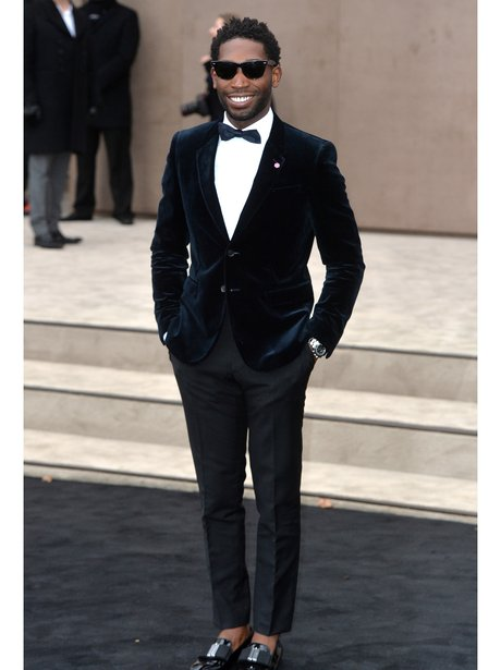 Tinie Tempah wearing a suit