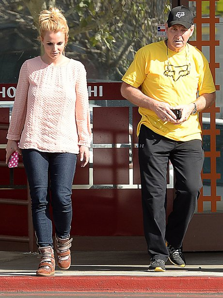 Briney Spears with her dad