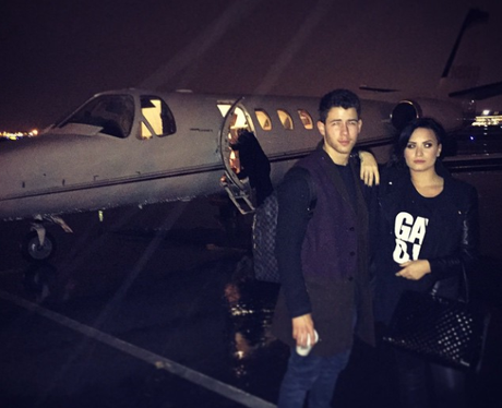 Demi Lovato and Nick Jonas Jet