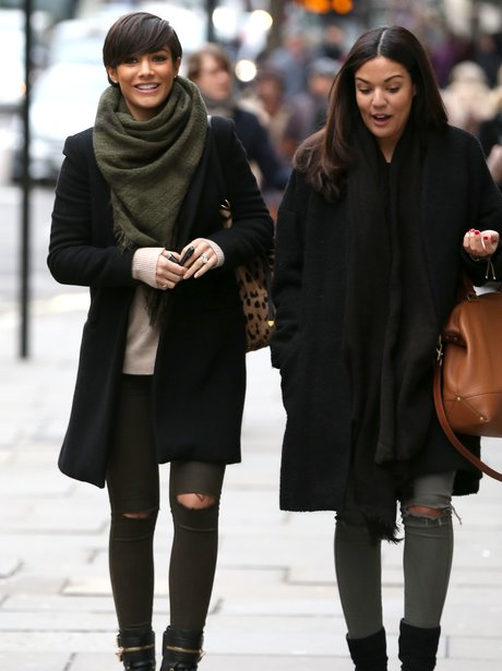 Frankie Sandford out with a friend