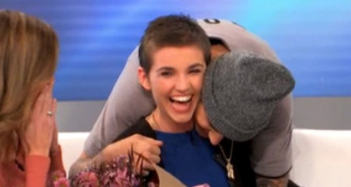 WATCH: Justin Bieber Surprises A Teen Burn Victim Fan With Flowers