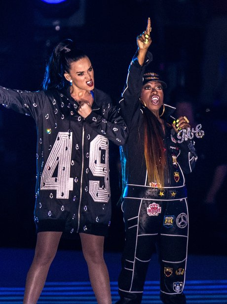 Katy Perry and Miss Elliott Super Bowl 2015