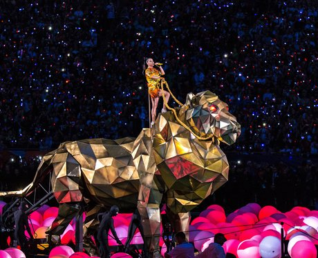 Katy Perry Performs at the Superbowl during halfti