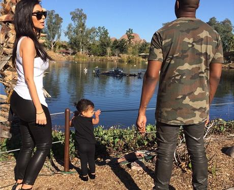 Kim, Kanye and North Zoo