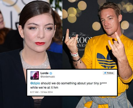 Lorde and Diplo Feaud