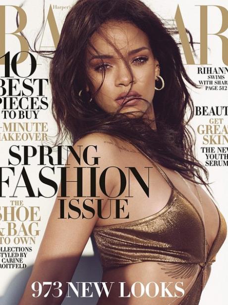 Rihanna Harpers Bazaar cover Feb 2015