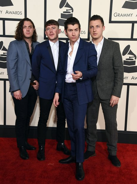 Arctic Monkeys arrive at the Grammy Awards 2015
