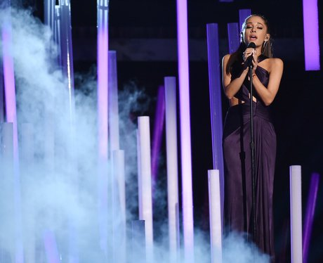 Ariana Grande performs at the Grammy Awards 2015