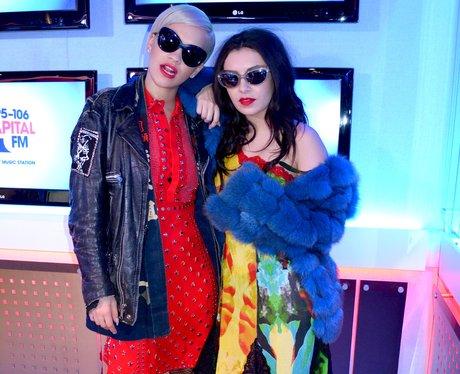 Charlie XCX and Rita Ora on Capital FM