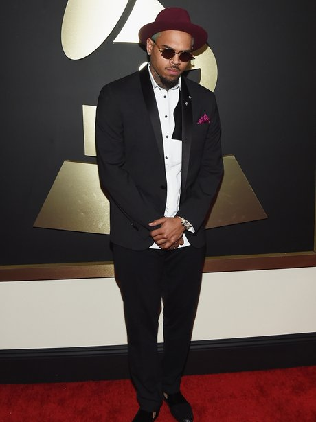 Chris Brown at the Grammy Awards 2015