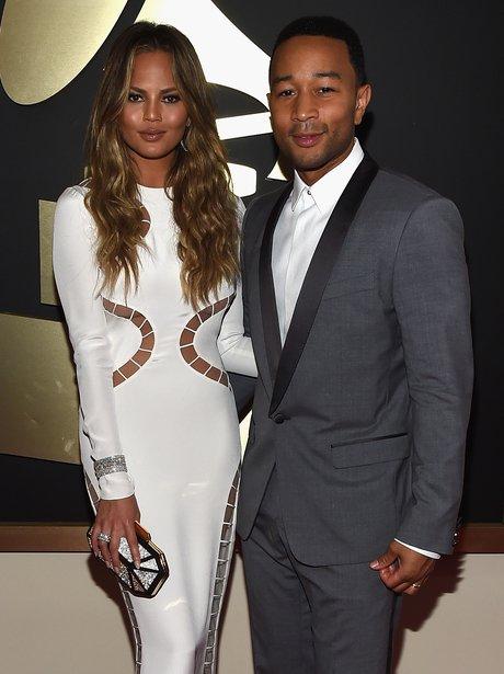 Chrissy Teigen and John Legend Grammy Awards 2015
