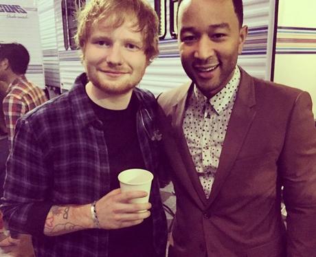Ed Sheeran and John Legend at Stevie Wonder concer