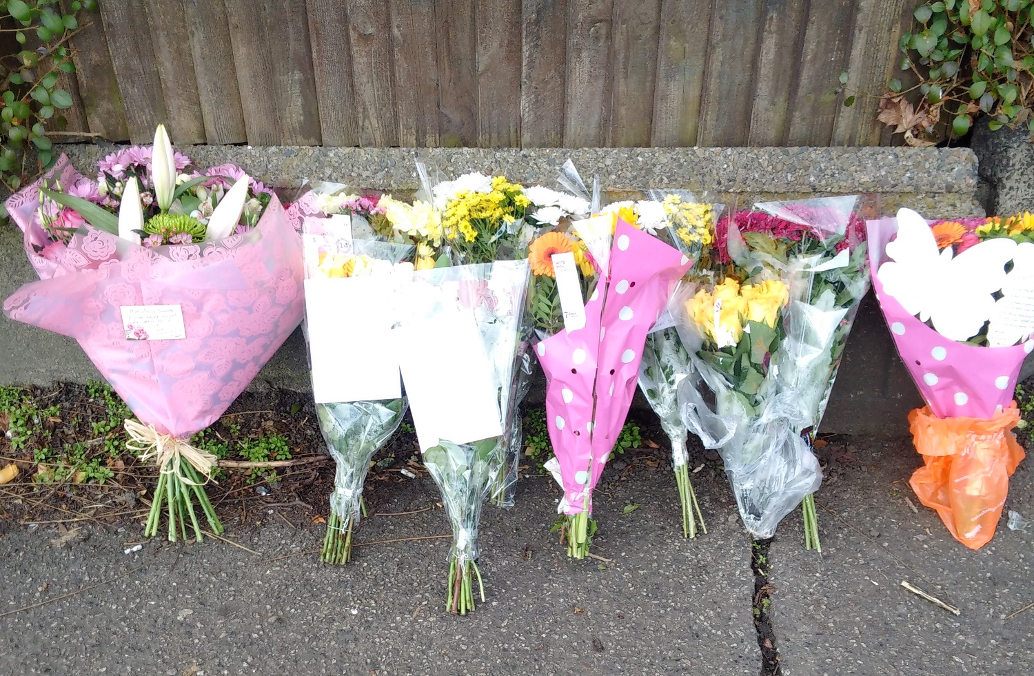 flowers bus tributes