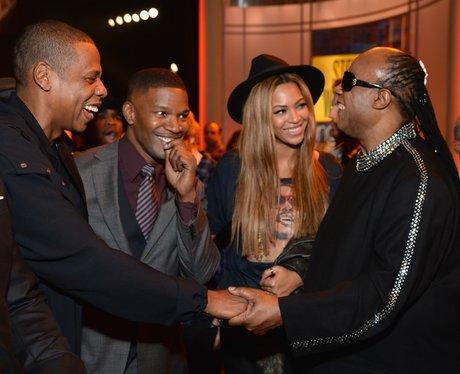Jay Z, Beyonce, Stevie Wonder and Jamie Foxx