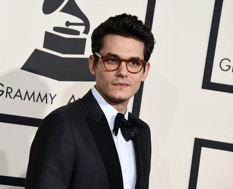 John Mayer arrives at the Grammy Awards 2015