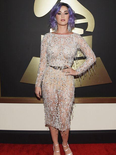 Katy Perry arrives at the Grammy Awards 2015