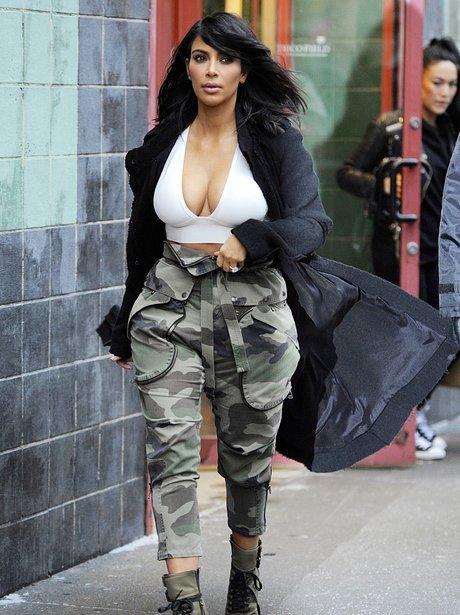 Kim Kardashian Low Cut top