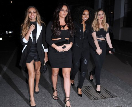 Little Mix wearing all black outfits