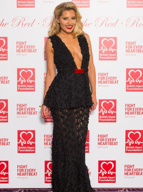 Mollie King Black Dress
