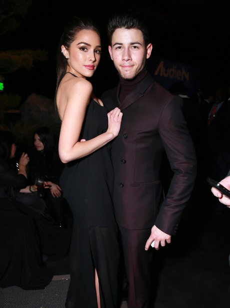 Nick Jonas Olivia Culpo Grammy After Party 2015