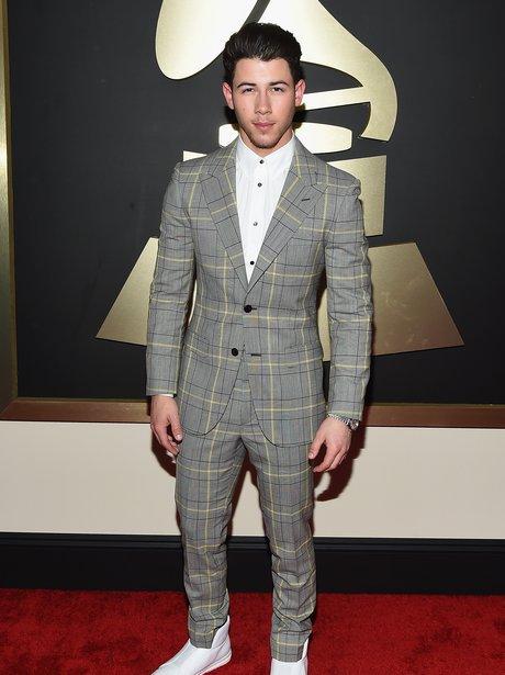 Nick Jones arrives at the Grammy Awards 2015
