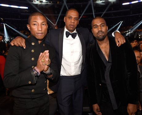 Pharell Williams, Jay Z and Kanye West