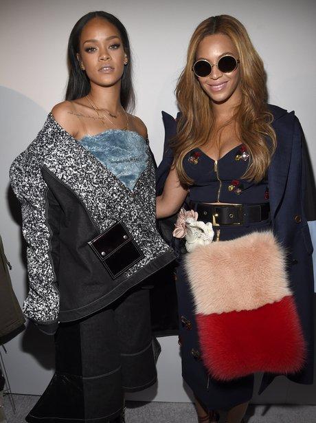 Rihanna and Beyonce Fashion Week 2015