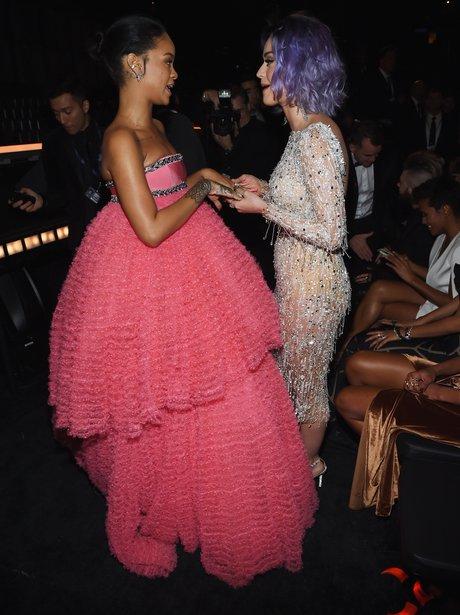 Rihanna and Katy Perry Grammy Awards 2015