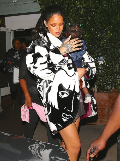 Rihanna and her niece out for dinner