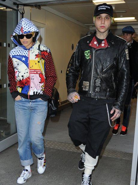 Rita Ora and Ricky Hillfiger at the airport