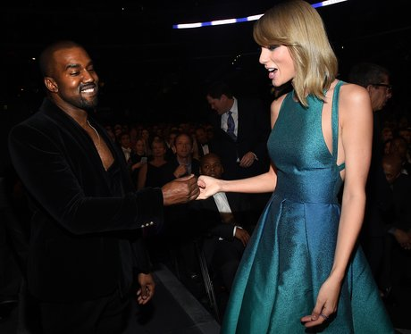Taylor Swift and Kanye West Grammy Awards 2015d