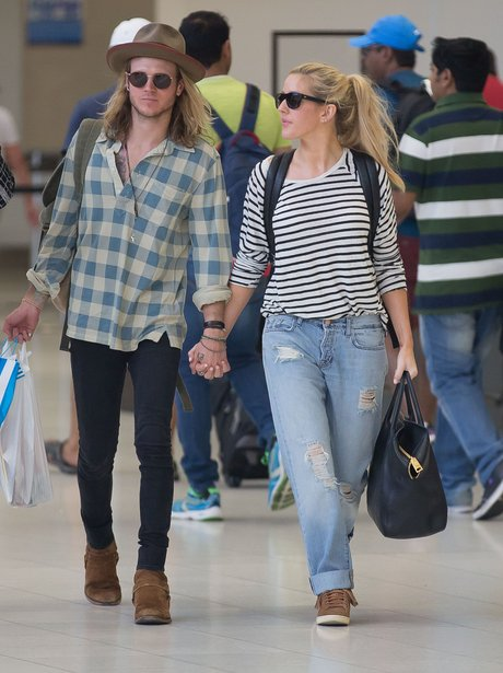 Ellie Goulding and Dougie Poynter Holding Hands