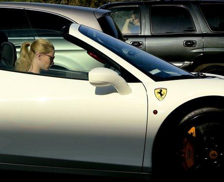 Iggy Azalea in her car