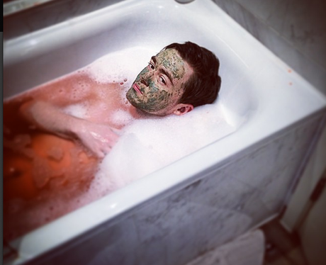 Jake Roche in the bath