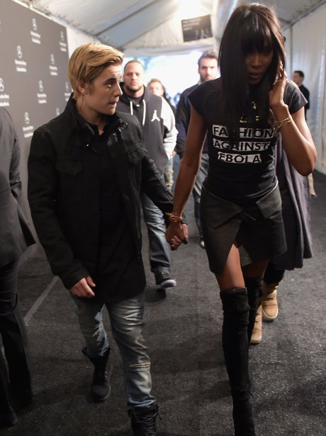 Justin Bieber and Naomi Campbell Holding Hands