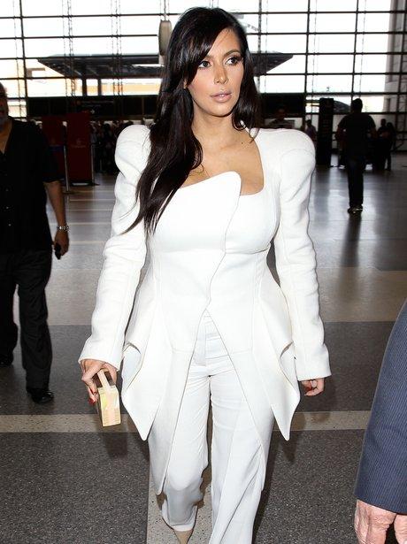 Kim Kardashian White Suit
