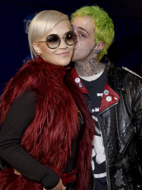 Rita Ora and Rick Hilfiger At Fashion Week