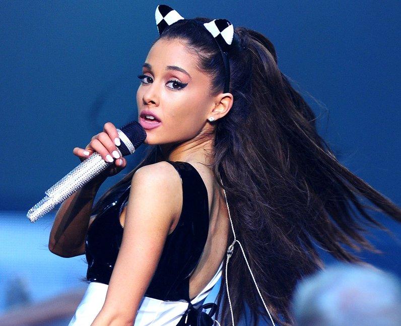 Ariana performs on her honeymoon tour