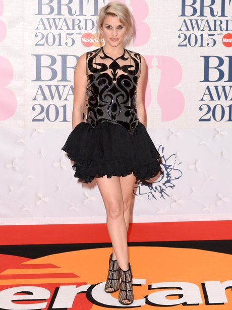 Ashley Roberts BRIT Awards Red Carpet 2015