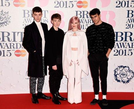 Clean Bandit BRIT Awards Red Carpet  2015
