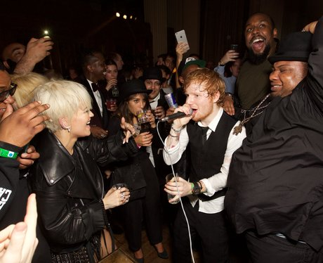 Ed Sheeran performs at the BRIT Awards Aftershow P
