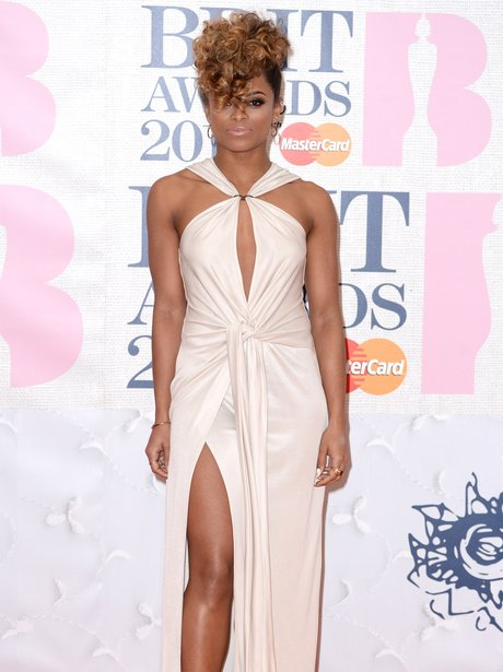 Fleur East BRIT Awards Red Carpet 2015