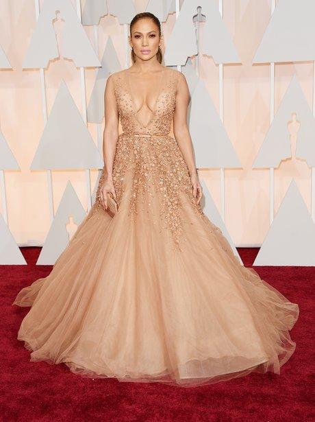 Jennifer Lopez arrives at the Oscars