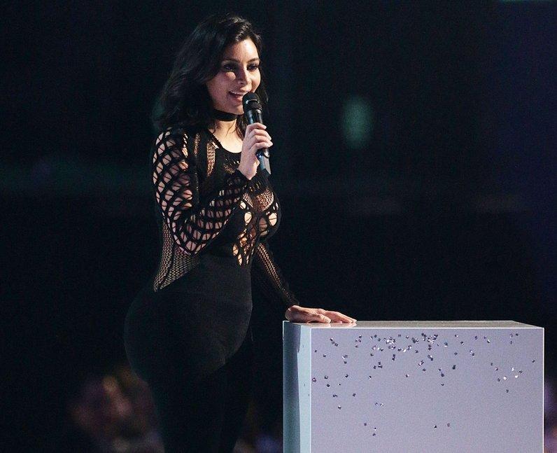 Kim Kardashian BRIT Awards 2015 On Stage