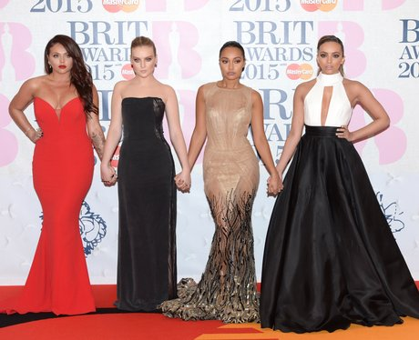 Little Mix BRIT Awards Red Carpet 2015