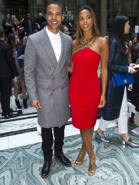 Marvin Humes and Rochelle London Fashion Week 2015